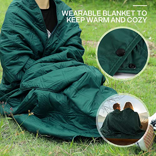 Tolaccea Warm Fleece Outdoor Blanket Waterproof Stadium Blanket Ideal for Camping Picnic Tournament Beach Home Dog Car Use in Cold Weather