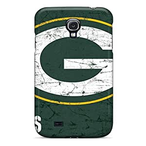 Galaxy S4 Green Bay Packers Print High Quality Tpu Gel Frame Case Cover
