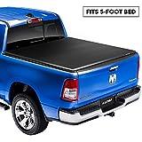Lund Genesis Elite Tri-Fold, Soft Folding Truck Bed Tonneau Cover | 95862 | Fits 2000 - 2004 Dodge Dakota 5' Bed