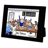 Personalized Friendly Folks Cartoon Caricature in a Color Block Frame Gift: Bingo Player - Male Great for bingo player, gambler