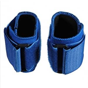 (Color:Blue) A Pair Of Sports Wristbands Wrist Supporter Wrap Hand Straps