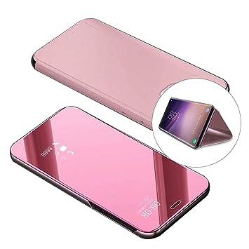 Carcasa Xiaomi Redmi 5 tapa transparente, color oro rosa ...