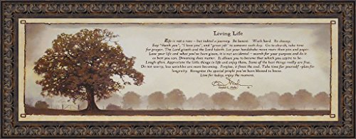Living Life by Bonnie Mohr 16x40 Life is a Journey Inspirational Quote Tree Framed Art Print Wall Décor Picture