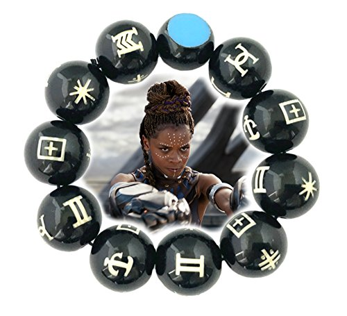 Black Panther Charm Bracelet Wakanda Marvel Comics 2018 New Movies Cartoon Superhero Logo Theme Chadwick Boseman Premium Quality Detailed Cosplay Jewelry Gift Series