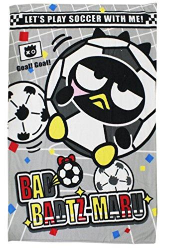 [Bad Badtz-Maru Let's Play Soccer With Me Fuzzy Blanket] (Badtz Maru Costume)