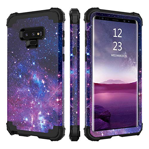 BENTOBEN Case for Samsung Note 9, 3 in 1 Space Design Hybrid Hard PC Soft Rubber Heavy Duty Rugged Bumper Shockproof Starry Three Layer Full Body Protective Phone Cover for Galaxy Note 9, Space Design