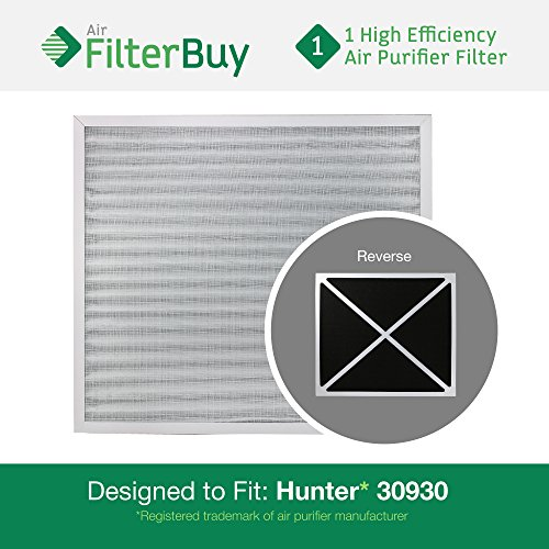 Hunter Hepatech Replacement Filter (30930 Hunter HEPATech Air Purifier Replacement Filter. Fits Hunter Models: 30200, 30201, 30205, 30250, 30253, 30255, 30256, 30350, 30374, 30375, 30377, 30380, 30390, 37255 & 37375. Designed by FilterBuy in)