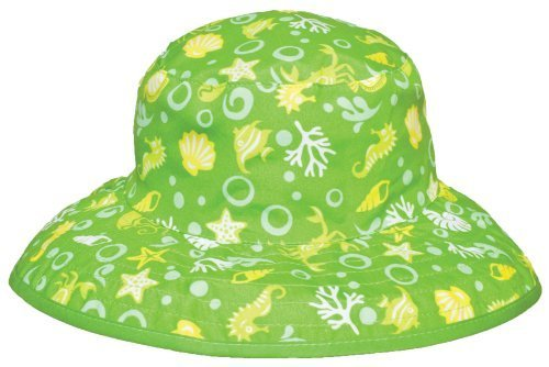 Baby BanZ UV Reversible Bucket Hat, Green Tide, 0-24 Months Size: 0-24 Months Color: Green Tide Model: BHRGT-Green Tide-0-24 Months (Banz Green Hat)