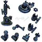 Panavise 13150 ActionGrip 3-In-1 Suction Cup Camera Mount Kit (Matte Black)