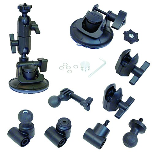 Panavise 13150 ActionGrip 3-In-1 Suction Cup Camera Mount Kit (Matte (3 Point Mount Kit)