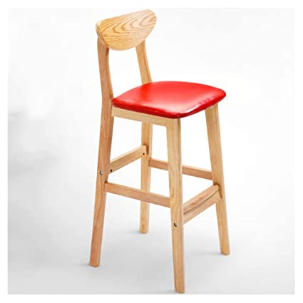 Magnificent Amazon Com Agfxn Bar Stools High Chair Wooden Non Slip Ibusinesslaw Wood Chair Design Ideas Ibusinesslaworg