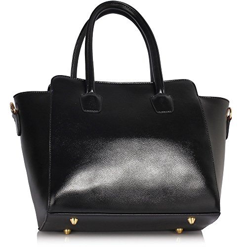 Black Handbag New Strap Leather Shoulder Design Faux Designer 1 Shoulder With Womens Tote Bag Grab Handbag Ladies FxRqU1Aaw