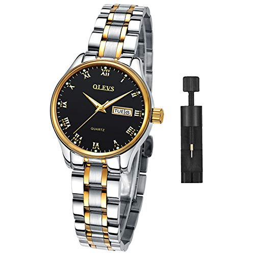 Women's Watch with Day and Date,Female Watch