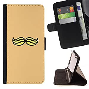 Momo Phone Case / Flip Funda de Cuero Case Cover - Hipster Jaune - Samsung Galaxy Note 4 IV