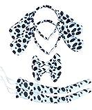 BabyPreg Kids Dalmatian Headband Fancy Mouse Tiger Animals Cosplay Halloween Costume (Dappled Dalmatian 2Pack, Small)