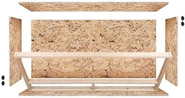 Terrario: madera Terrario para Reptiles página ventilación 120 x 60 x 60 cm, alta calidad Terrario Madera de OSB, montaje sencillo: Amazon.es: Productos para mascotas