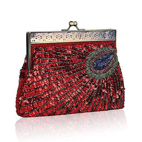 pour Silver Argenté Enjoysports Red Pochette Femme zwUqq45I1