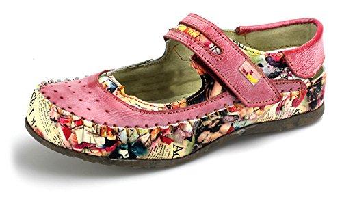 TMA Damen Ballerinas Modische Leder Schuhe 5068 Rot