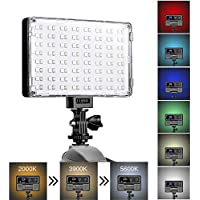 GVM RGB LED Camera Light CRI97+ Dimmable On Camera Light...