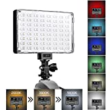 GVM LED Camera Light with Battery Dimmable Full Color RGB Video Light Panel