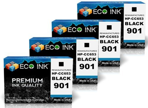 ECO INK Compatible / Remanufactured for HP 901 CC653AN (4...