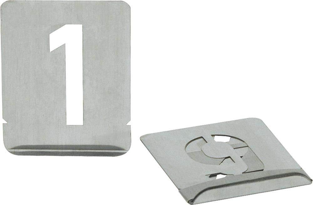 Turnus 327-100 Chiffré s 0-9 Gabarit, Argent, 100 mm, Set de 10 Piè ces Set de 10 Pièces