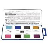 AMACO Non-Toxic Semi-Moist Underglaze Set - B in Pan, 1.5 oz, Assorted Color, Set of 8