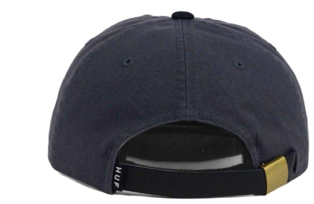 Amazon.com  HUF Wool Script Washed Premium Strapback Adjustable Gray Black  Hat Cap  Sports   Outdoors da089081675