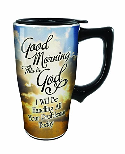 (Spoontiques Good Morning This is God Travel Mug, Multicolor )