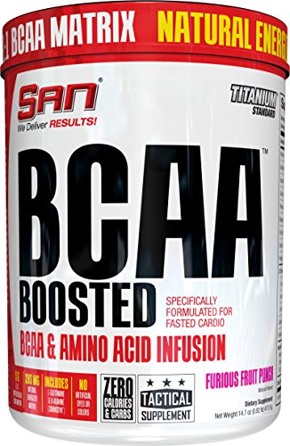 SAN BCAA Boosted Supplement, Furious Fruit Punch, 14.74 Ounce
