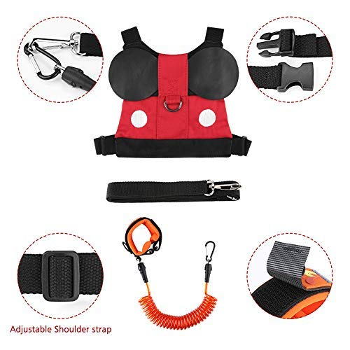 Accmor Baby Anti Lost Safety Harness + Anti Lost Wrist Link, Cute Kid Safety Harness Leash Child Kid Assistant Strap for 1-8 Years Boys and Girls to Zoo or Mall by accmor (Image #4)