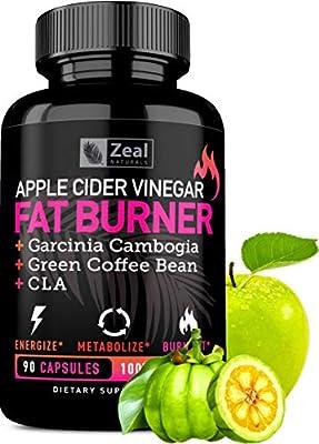 Apple Cider Vinegar Weight Loss Pills for Women - Garcinia Cambogia + Apple Cider Vinegar Pills for Weight Loss w. CLA & Green Coffee Bean Green Tea Fat Burner Pills - Detox Cleanse Weight Loss Pills