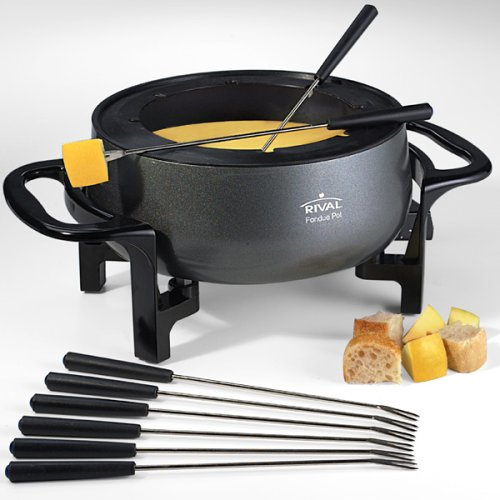 Rival FD300D 3-Quart Fondue Pot, Black by Rival