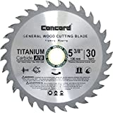 Concord Blades WCB0538T030HP 5-3/8-Inch 30 Teeth TCT General Purpose Hard & Soft Wood Saw Blade