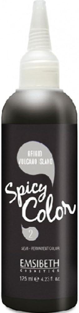 Emsibeth® Spicy Color - Tinte semipermanente para cabello, color gris volcánico con PH ácido ideal para todo tipo de colores de cabello: natural, ...