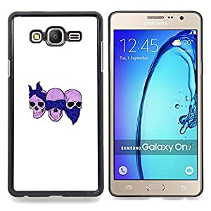 - Scarf Bikers Motorcycle Death Skull - - Snap-On Rugged Hard Cover Case Funny HouseFOR Samsung Galaxy On7 G6000