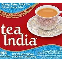 Tea India Orange Pekoe Black Tea, 144 Round Teabags, Net Weight of 16 Ounce, 12 Count