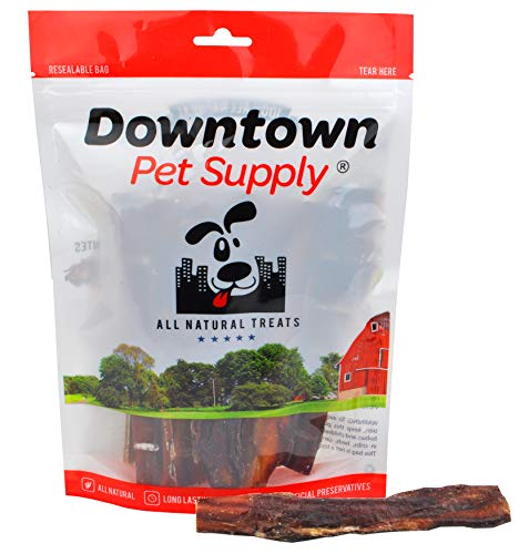 "Downtown Pet Supply Best Free Range 6"" American Bully Sticks for Dogs Made in USA - Odorless Dog Dental Chew Treats, High in Protein, Great Alternative to Rawhides (6"", 30 PK)"