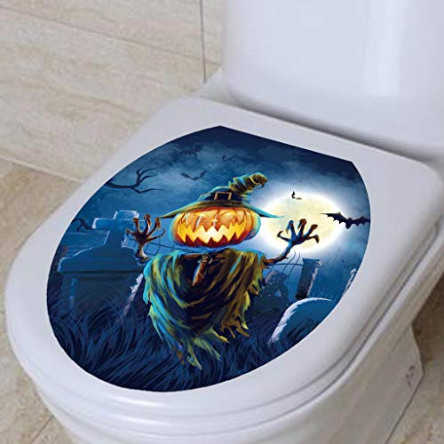 Halloween Toilet Seat Grabber Stickers, SUJING Wall Sticker Happy Halloween Stickers Temporary Transfer Party Decorations -