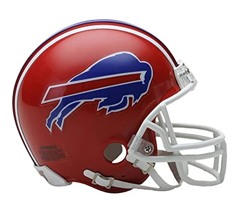e7b94a66 Buffalo Bills 1987-2001 Throwback Riddell Mini Football Helmet - New in  Riddell Box
