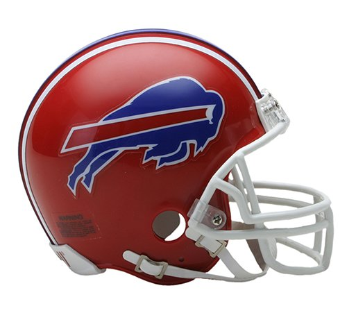 Mini Bills Helmet Football Buffalo - Buffalo Bills 1987-2001 Throwback Riddell Mini Football Helmet - New in Riddell Box