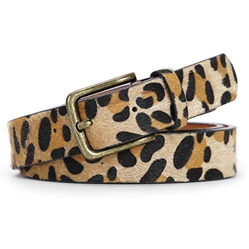 JASGOOD Leopard Print Leather Belt Jeans Pants Waist Belt Dresses