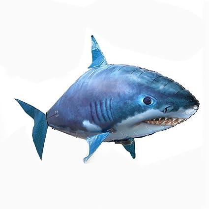 Mai Dou Control Remoto De Peces Voladores | Juguete De Pez Payaso Tiburón | Juguetes Aéreos