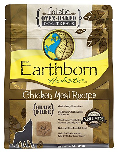 Earthborn Holistic Chicken Meal Recipe Holistic Oven-baked Dog Treats,14 OZ ()