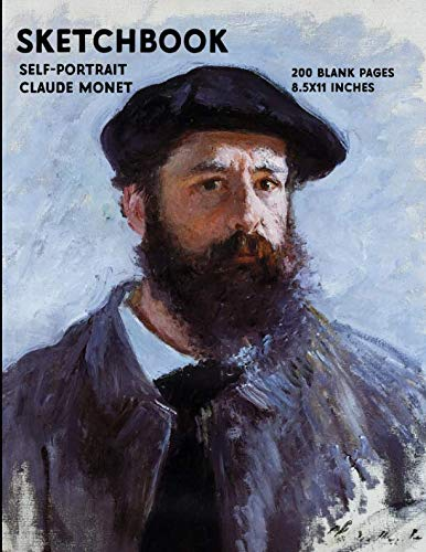 - Sketchbook - Self Portrait - Claude Monet: 200 Blank Pages - 8.5x11 Inches