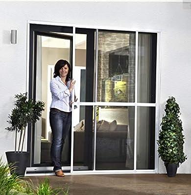 Protección contra insectos, puerta corredera doble, 230 x 240 cm, color marrón: Amazon.es: Bricolaje y herramientas