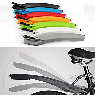 Bike Fenders , Mountain Bicycle Mudguards, Dirt Rear Road Black Fenders Racks Removable Rain Shield with LED Tail Light Plate Set, Mud Guards Cycling, Made by FAVOLOOK