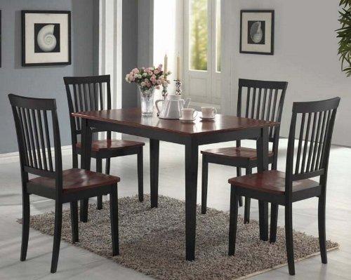 5-piece-dining-set-in-black-oak-coaster