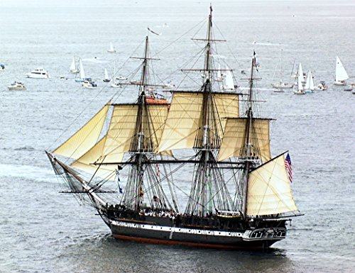 Home Comforts Laminated Poster Navy Photo of USS Constitution Under sail for The First time in Over a Century EspaÃÅ'Ã'ol: El US Const Vivid Imagery Poster Print 24 x 36 ()
