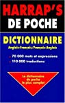 Harrap's de poche : english-french dictionary : = dictionnaire français-anglais par Janes